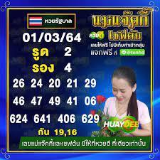 เลขเด็ด หวยเชฟต้น แม่แจ๊คกี้ งวด 1 มีนาคม 2564