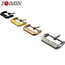 <b>ZLIMSN Stainless Steel</b> Metal Buckle Silver Gold Rosegold Black ...