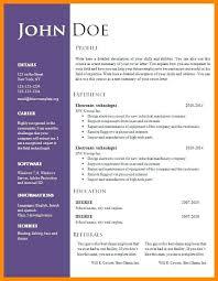 Parts Of A Modern Cv Resume Modern Resume Template Word Free Download Cv Resume