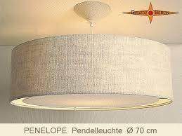 large pendant lamp linen penelope light
