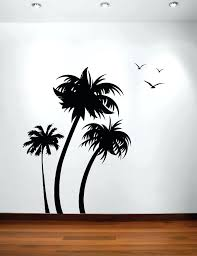 palm tree wall art unique ideas palm tree wall decor coconut decal with birds 3 trees