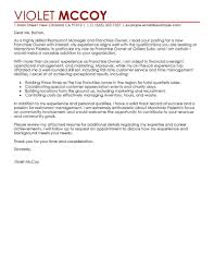Example Of Franchise Leading Professional Franchise Owner Cover Letter Examples