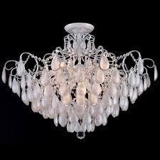 <b>Потолочная люстра</b> Crystal Lux Sevilia PL9 <b>Silver</b>