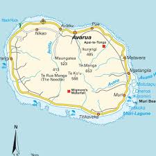 map of greater rarotonga cook islands maps and directions at hot
