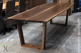 living edge furniture. Walnut Live Edge Dining Table With Our Solid Hardwood Trapezoids In Chicago Area Living Furniture