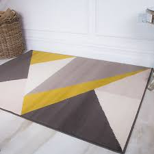 ochre yellow grey abstract geometric rugs best soft small large living room rug