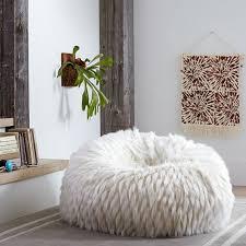winter fox faux fur beanbag pbteen pertaining to faux fur bean bag chair