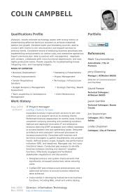 It Project Manager Resume Samples - Visualcv Resume Samples Database