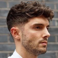 Curly Hair Man Round Face Short Curly Hair