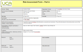 Mark's Media Blog: Commission Unit- Risk Assessment Forms And ...