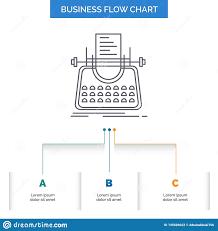 Article Blog Story Typewriter Writer Business Flow Chart
