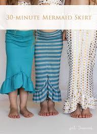 Mermaid Skirt Pattern Custom 48minute Mermaid Skirt Tutorial Girl Inspired