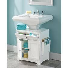 Bathroom Sink And Cabinet The Pedestal Sink Storage Cabinet Hammacher Schlemmer