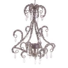 pewter hanging chandelier tea light holder