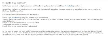 all banks credit card hotlisting
