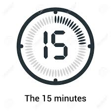 15 Min Timer The 15 Minutes Icon Isolated On White Background Clock And Watch