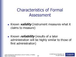 Formal Assessment Assessment And Career Planning Ppt Download 22