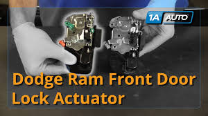 how to install replace door lock actuator front driver side 02 08 dodge ram parts at 1aauto com you