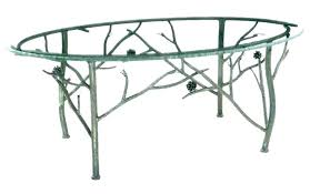 iron coffee table base cast legs wrought machine