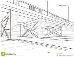 architectural drawings of bridges. Linear Architectural Sketch Overhead Road Drawings Of Bridges