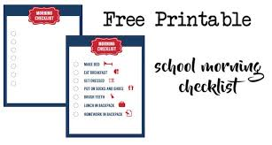 School Morning Routine Checklist Free Printable Paper