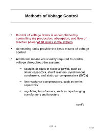 reactive power and voltage control ppt video online  methods of voltage control cont d