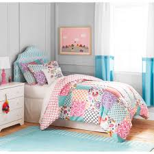 What size is a queen comforter Mint Better Homes And Gardens Kids Boho Patchwork Bedding Comforter Set Walmartcom Byourbed Better Homes And Gardens Kids Boho Patchwork Bedding Comforter Set