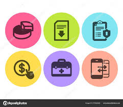 Chart Icon Download Pie Chart Privacy Policy And First Aid Icons Set Buy
