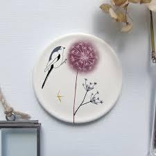 decorative mini wall plate bird