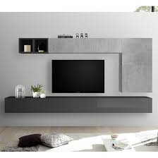 infra wall entertainment unit in grey