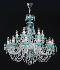green crystal chandelier made of glass colored by iron