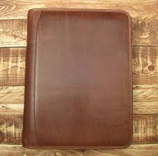 brown leather presentation a4 folder portfolio 4 ring binder