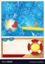 swimming pool beach ball background. Swimming Pool Background Template Vector Image Beach Ball O