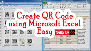 Create Barcode Qr Code Using Just Microsoft Excel Easy Without Anything Else Free