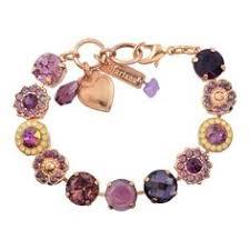 mariana jewelry bohemian rhapsody rose gold plated tennis bracelet 8 4084 1072