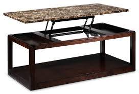 ... Coffee Table, Chic Brown Rectangle Modern Wood Granite Top Coffee Table  With Storage Design Which ...
