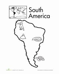 Small Picture Color the Continents South America South america Worksheets