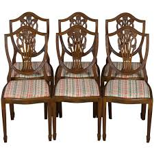 a lovely set of shield back dining room chairs