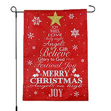 christmas garden flag. Exellent Christmas Merry Christmas Garden Flag  Red Typography Tree Winter Holiday  Season Decoration 12x18 Home In I