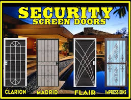 security screen door. Security Screen Door, Double Patio Swinging Steel Door