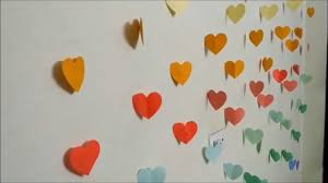 >diy hearts wall room decor make paper hearts easy paper crafts  diy hearts wall room decor make paper hearts easy paper crafts