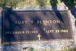 Ruby Fern Dunn Blenton (1923-1982) - Find A Grave Memorial