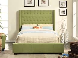 Green Fabric Tufted Upholstered Bed Frame Caravana Furniture