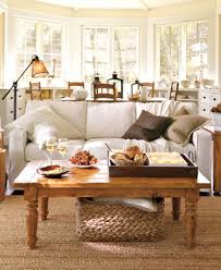 Pottery Barn Living Room Decorating Room Bay Windows Curtains Idea Gray Wall Paint Color Romantic