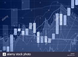 Uptrend Stock Market Graph And Bar Chart Financial And