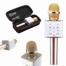 Tai nghe, loa, micro : Micro Karaoke kèm loa bluetooth Q7