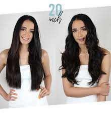 Clip In Hair Extension Length Chart Straight Vs Curly Extension Length Guide Zala Clip In Hair