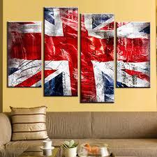 4 pcsset still live british flag wall art picture modern combined 4 pcsset  still live british