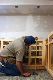 before beginning installation check the sizing of all cabinets against the room s measurements to make