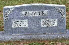 BLAIR, LEONARD L - Johnson County, Arkansas   LEONARD L BLAIR - Arkansas  Gravestone Photos